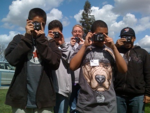 Multi-ethnic urban youth document places they want to change in West Sacramento as part of ARC's participatory action research project Youth Voices for Change.